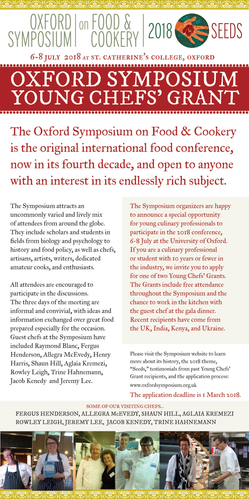 Oxford Symposium Grants 2018