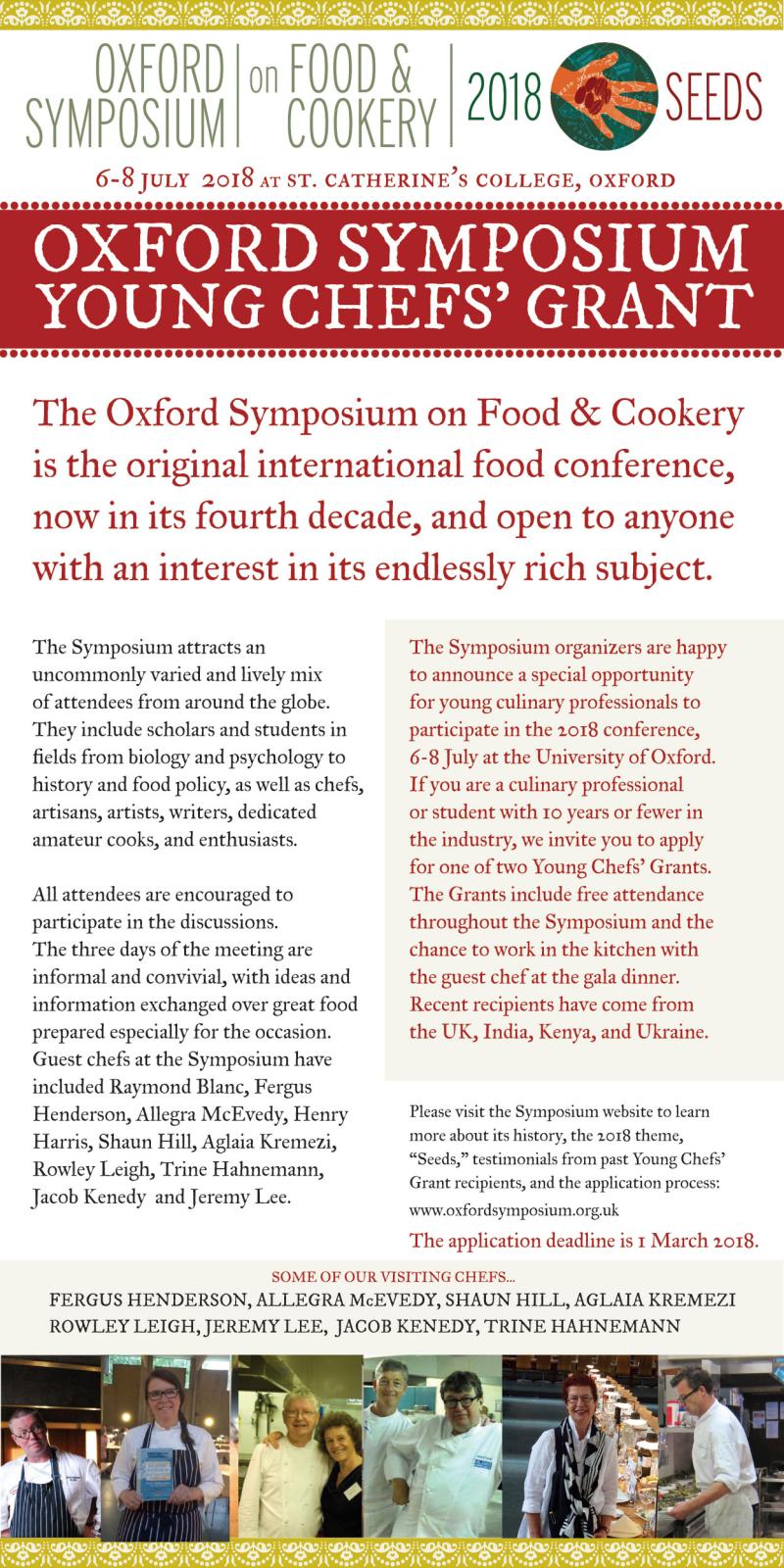 Oxford Symposium Grants 2018